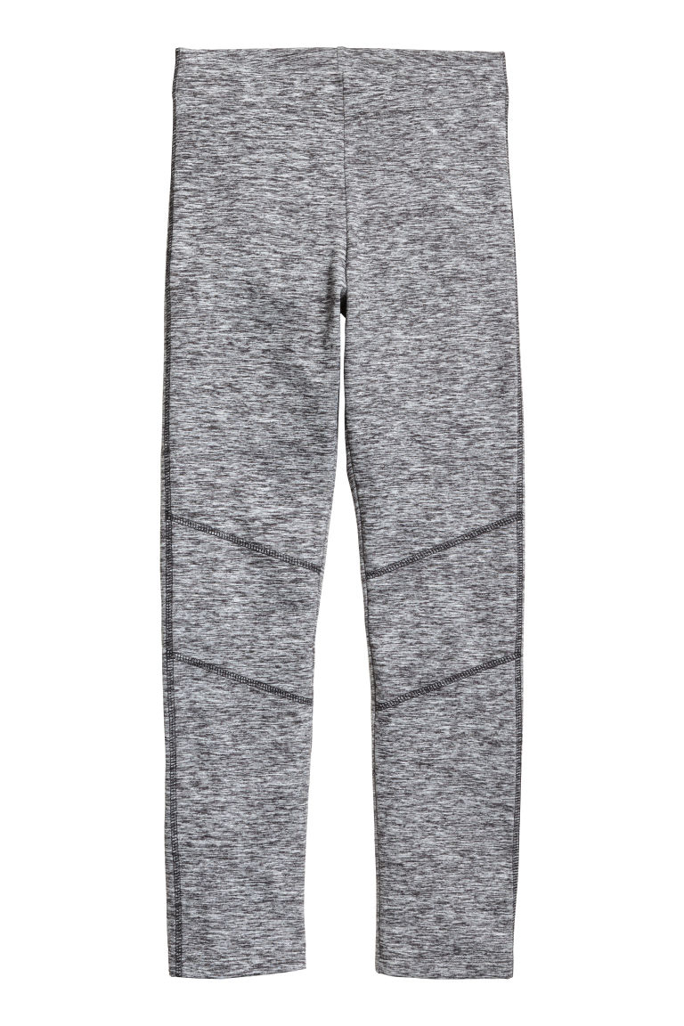 Sturdy jersey leggings - Dark grey marl - Kids | H&M CN