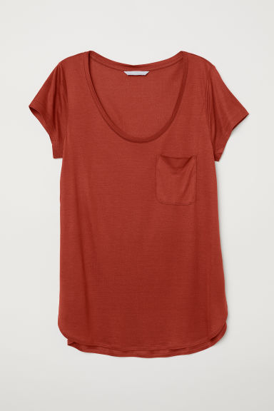 Jersey top - Dark orange - Ladies | H&M