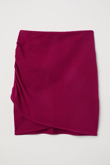 Draped Skirt - Dark pink - Ladies | H&M US