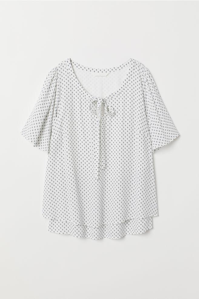 16919d702ea ... MAMA Nursing Blouse - Natural white black patterned - Ladies