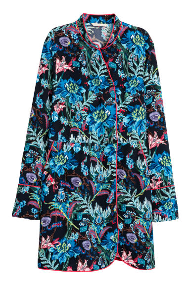 Patterned dress - Dark blue/Patterned - Ladies | H&M CN
