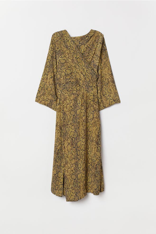 de52e29a7 ... Vestido padrão pele de cobra - Amarelo escuro Estampado cobra - SENHORA