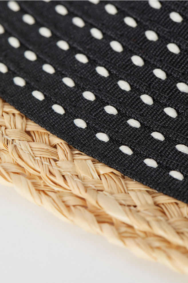 6ae5ec01f1ec0e Sun hat with straw detail - Black/White patterned - Ladies | H&M ...