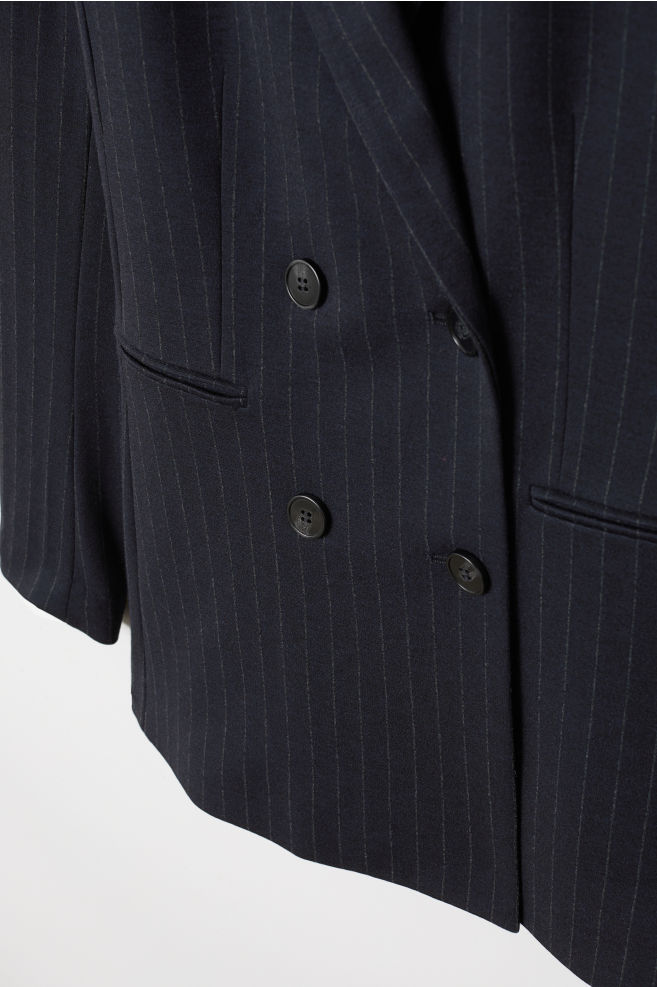 d8438b045d065c Double-breasted Jacket - Dark blue striped - Ladies