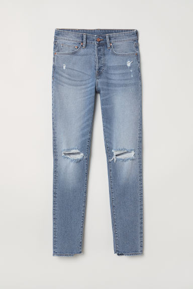Trashed Skinny Jeans - Light denim blue - Men | H&M IE