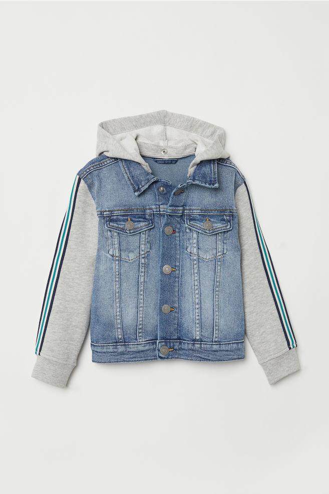 177c90c808f4 Hooded Denim Jacket - Light denim blue - Kids