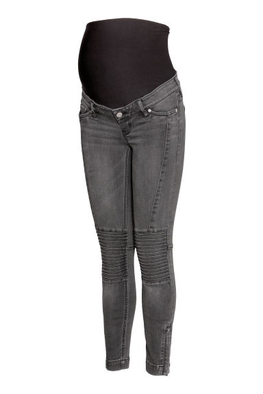MAMA Skinny Biker Jeans - Grey denim - Ladies | H&M