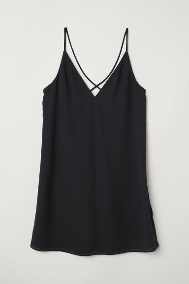 Short dress - Black -  | H&M CN