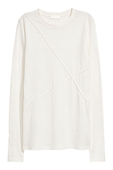 T-shirt in misto seta - Bianco - DONNA | H&M IT