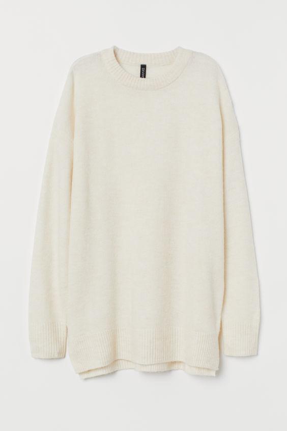 Cienki sweter - Jasnobeżowy - ONA   H&M PL 4