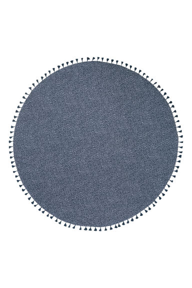Round beach towel - Dark blue/White spotted - Home All | H&M GB