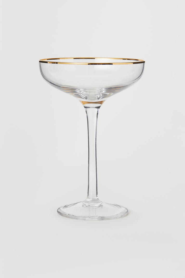 Coupe de champagne - Verre transparent - HOME | H&M CH 1