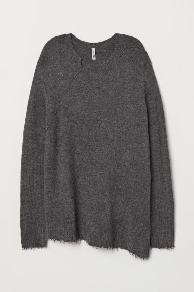 Knitted jumper - Dark grey -  | H&M CN