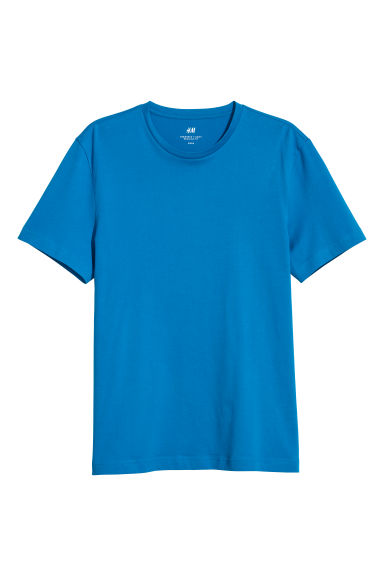Round-neck T-shirt Regular fit - Bright blue - Men | H&M CN