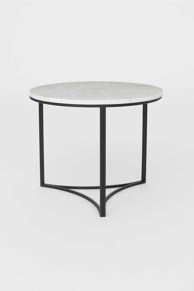 Bedwelming Salontafel met marmeren blad - Wit - HOME | H&M NL #GV06