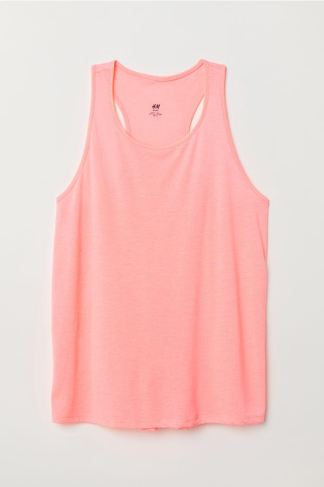 0313a7ac99d9d0 H&M+ Sports vest top - Neon pink - Ladies | H&M ...