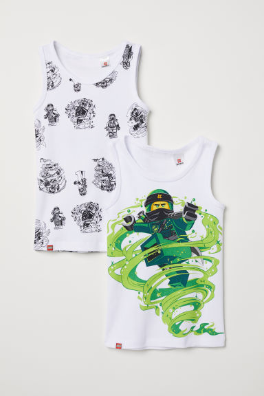 2-pack vest tops - White/Ninjago - Kids | H&M CN