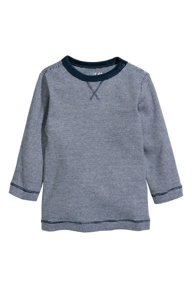 Top in jersey - Blu scuro/bianco righe - BAMBINO | H&M IT