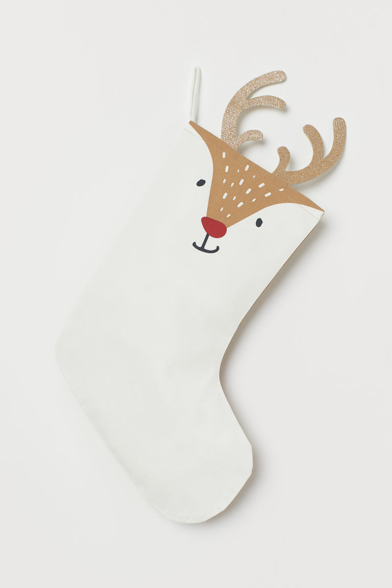 Chaussette de Noël - Marron/renne - Home All | H&M FR