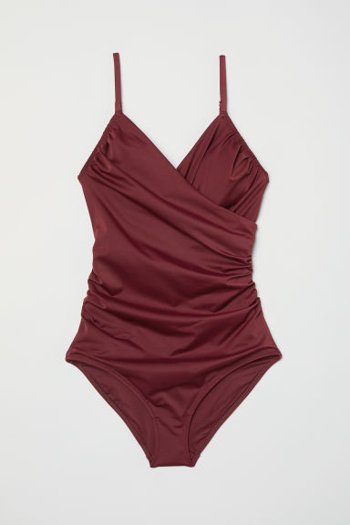 Shaping swimsuit - Burgundy -  | H&M