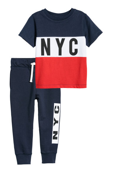T-shirt e joggers - Rosso/NYC -  | H&M IT