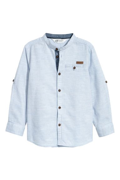 Grandad shirt - Light blue - Kids | H&M