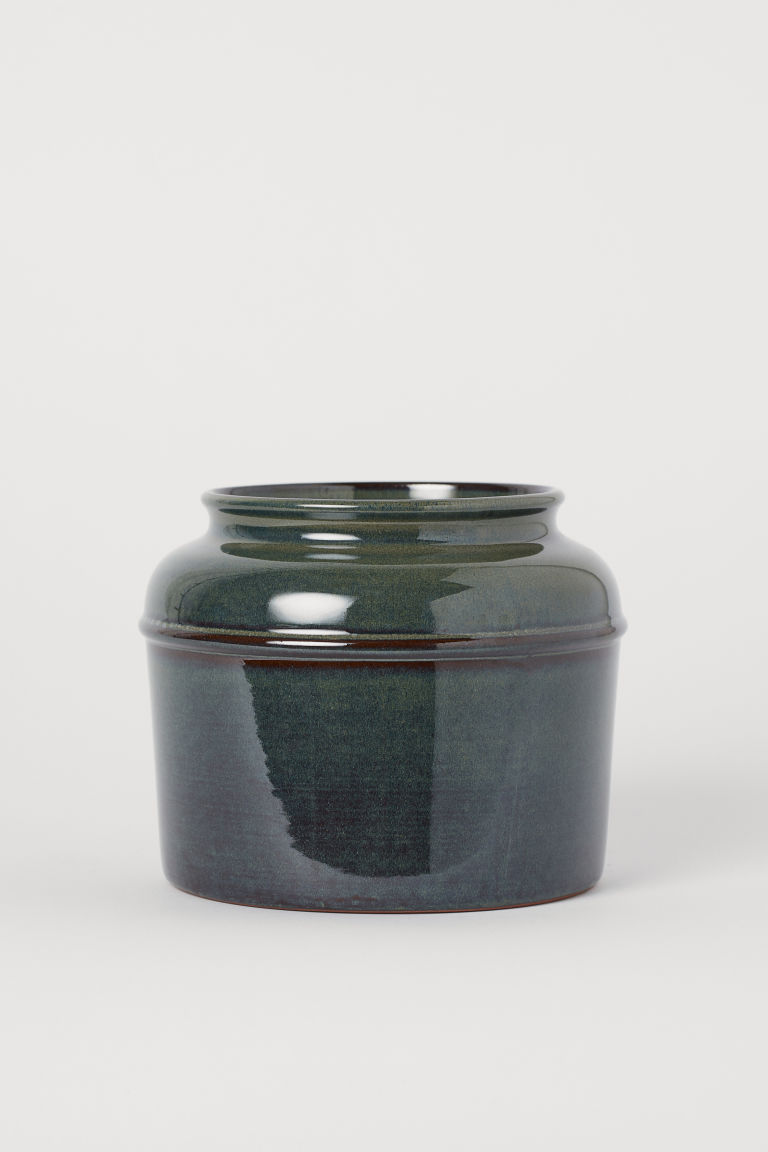 Ceramic vase - Dark green - Home All | H&M GB