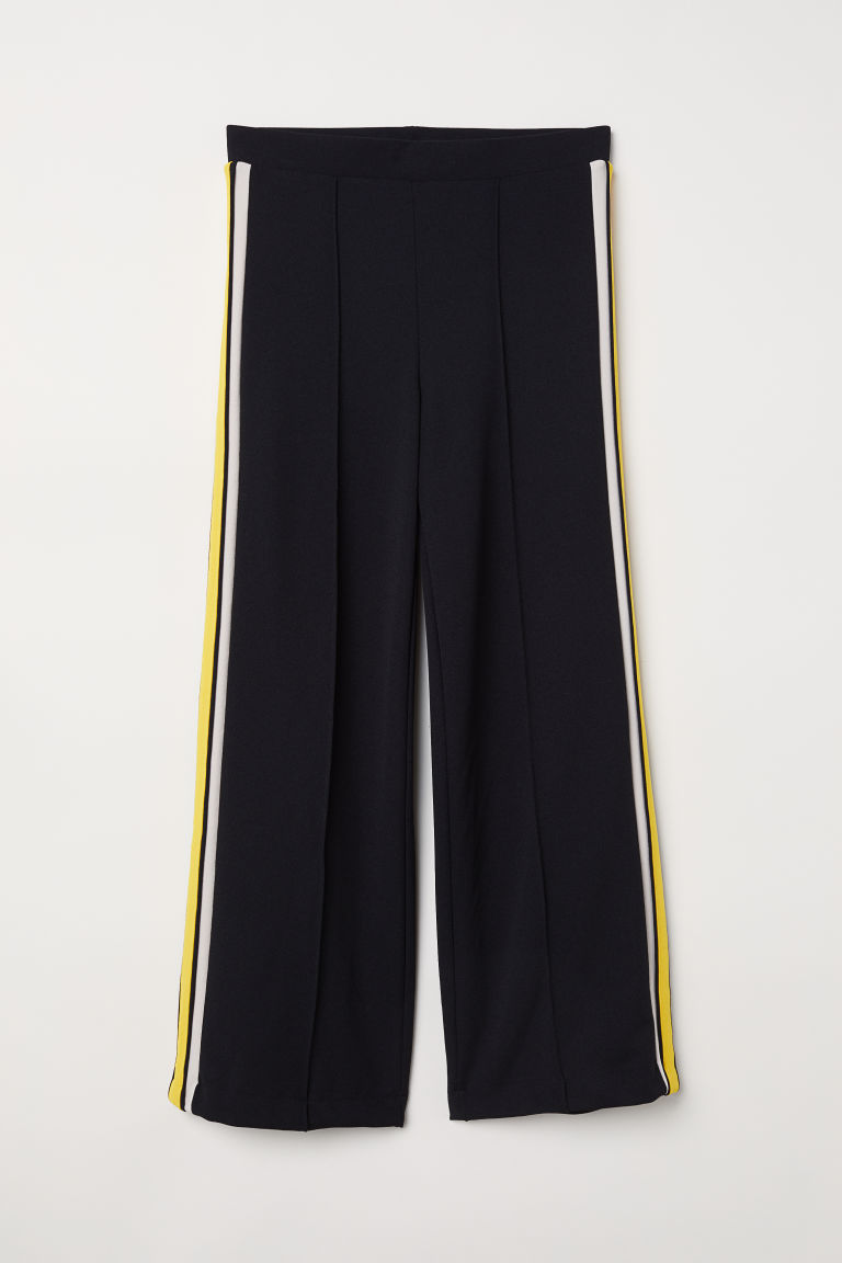 Trousers with side stripes - Black - Ladies | H&M