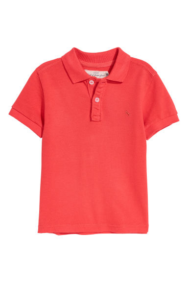 Polo shirt - Bright red - Kids | H&M CN