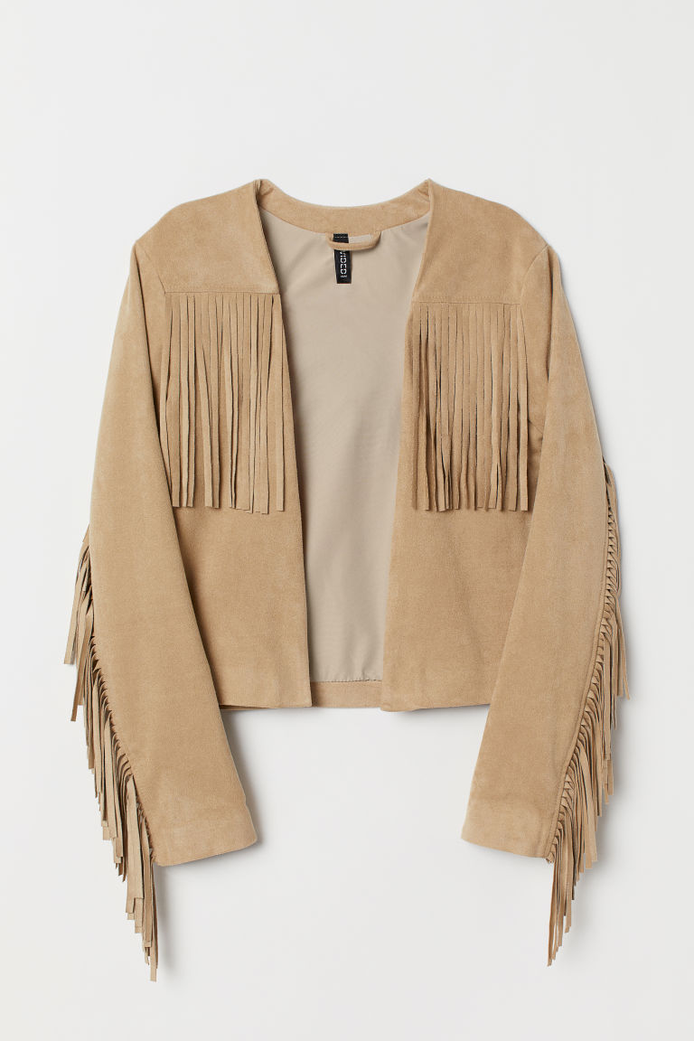 Jacket with Fringe - Beige -  | H&M US
