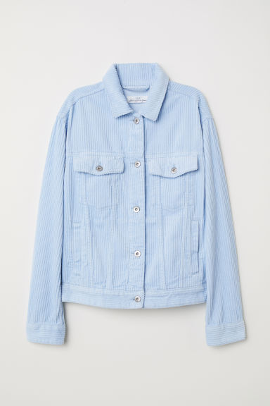 Corduroy jacket - Light blue - Ladies | H&M CN