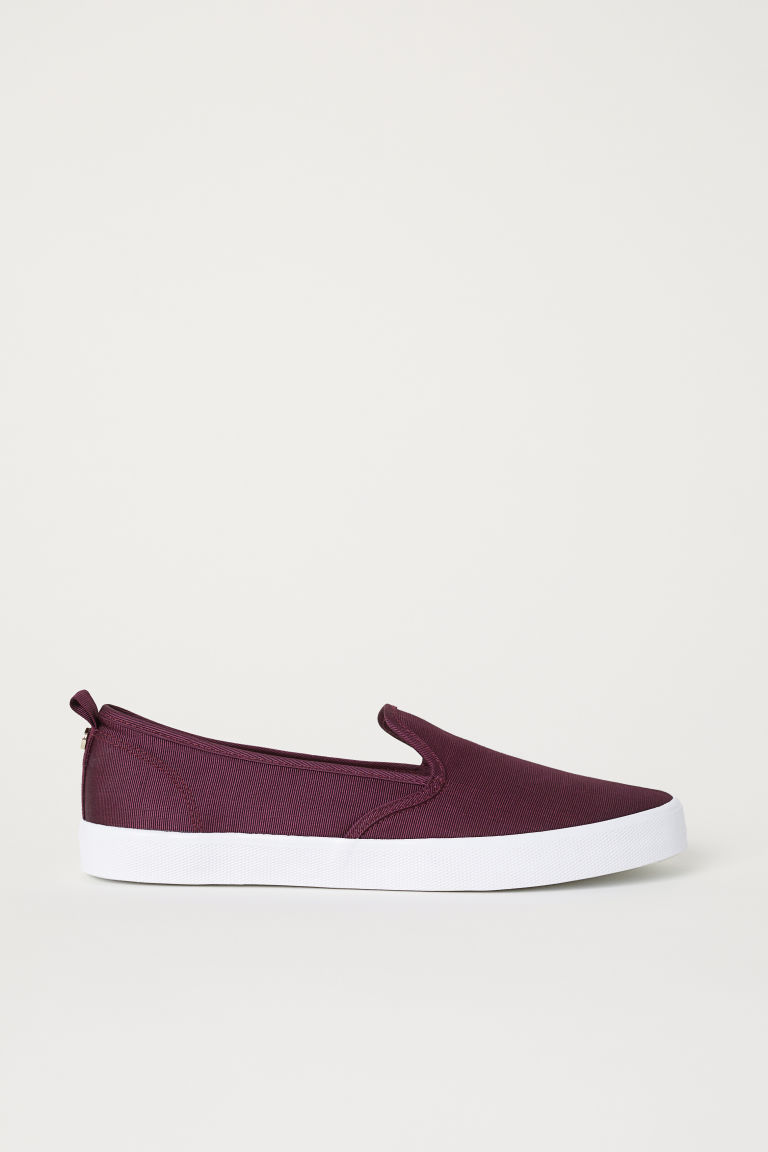Slip-on trainers - Burgundy - Ladies | H&M