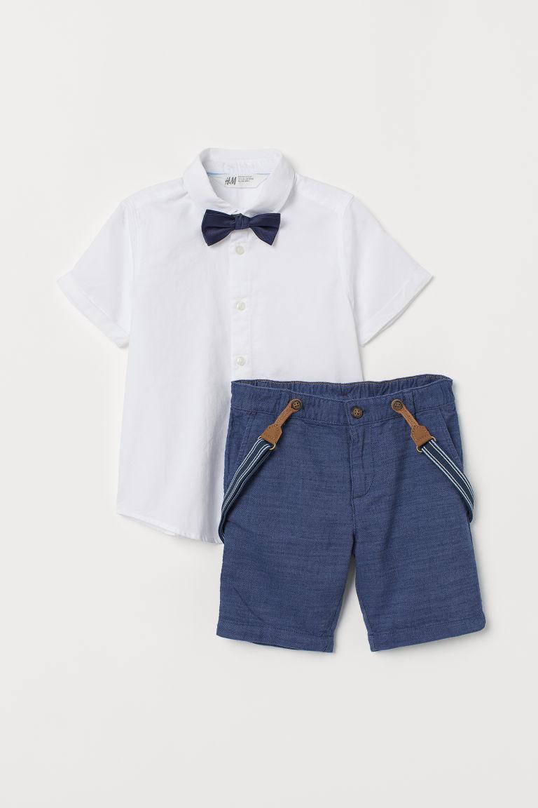 jetzt kaufen heiße Produkte bestbewertet Hemd mit Fliege und Shorts