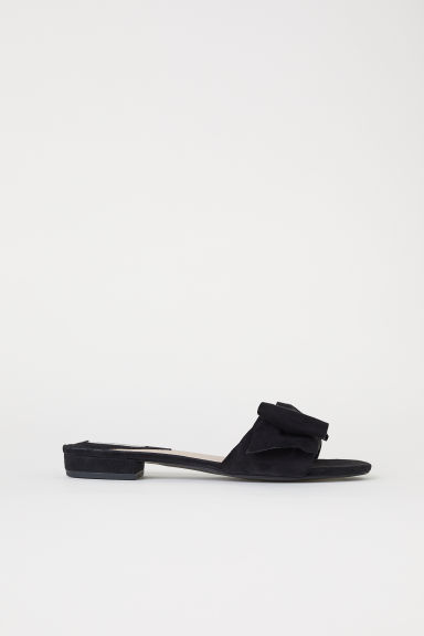 Suede Slides - Black - Ladies | H&M US
