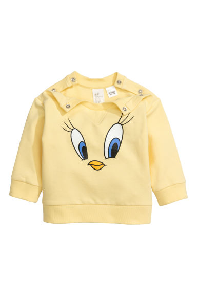 Printed sweatshirt - Light yellow/Looney Tunes -  | H&M CN