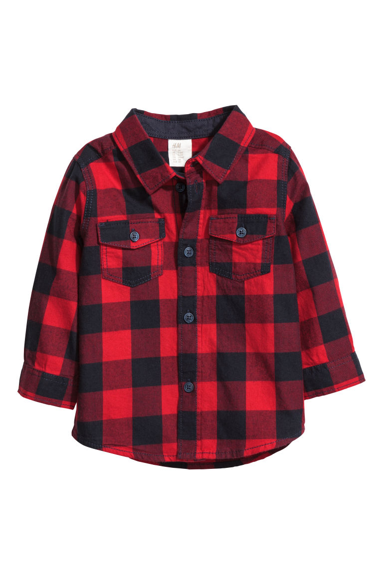 Shirt - Red/Checked - Kids | H&M CN