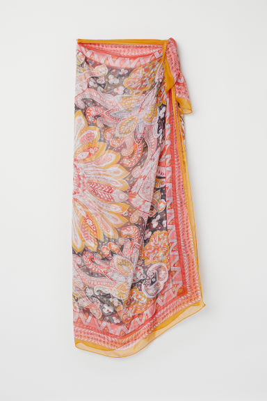 Sarong - Orange/patterned - Ladies | H&M CA