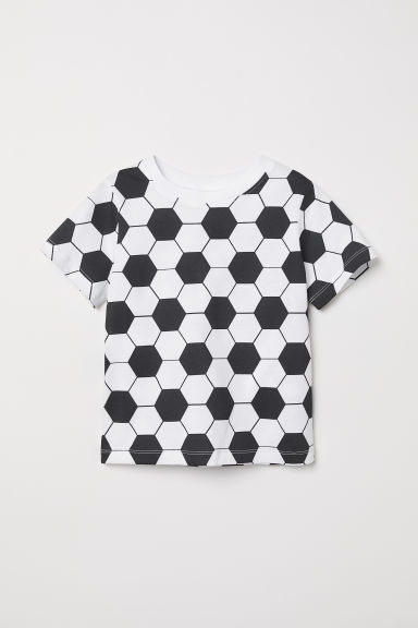Printed T-shirt - White/Football - Kids | H&M CN