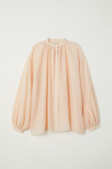 Wide shirt - Apricot - Ladies | H&M CN