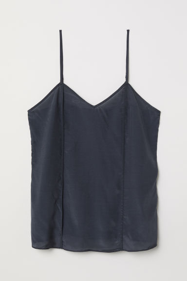 Lyocell top - Dark grey - Ladies | H&M