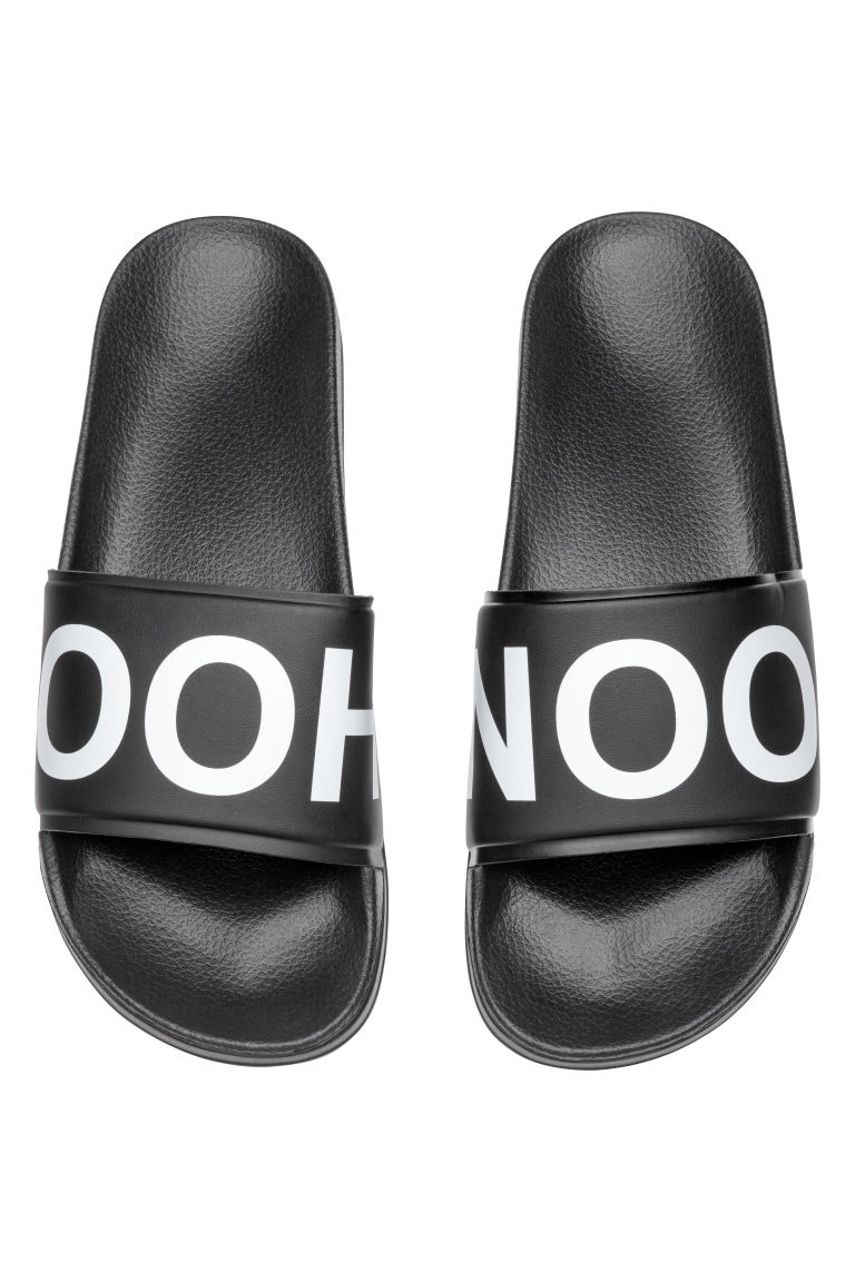 Pool shoes - Black/Patterned - Men | H&M CN