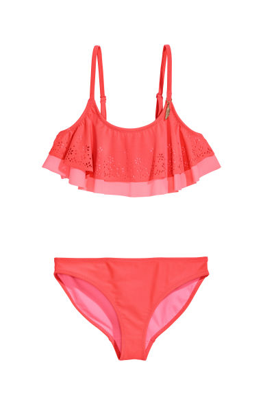 Frilled bikini - Raspberry pink - Kids | H&M