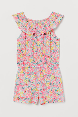 Playsuit with a flounce