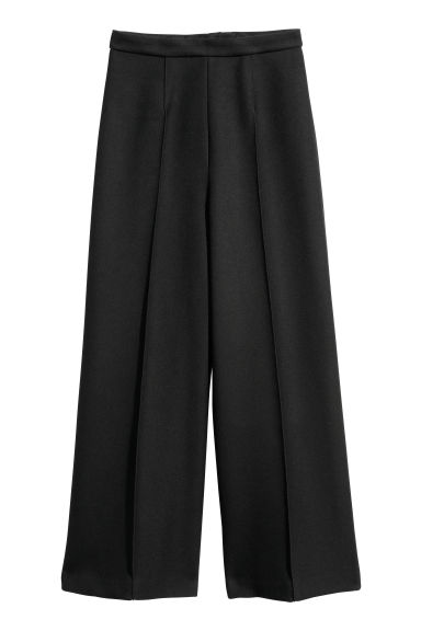 Wide trousers - Black - Ladies | H&M GB