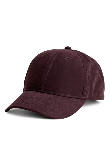 Nepped satin cap - Burgundy -  | H&M CN