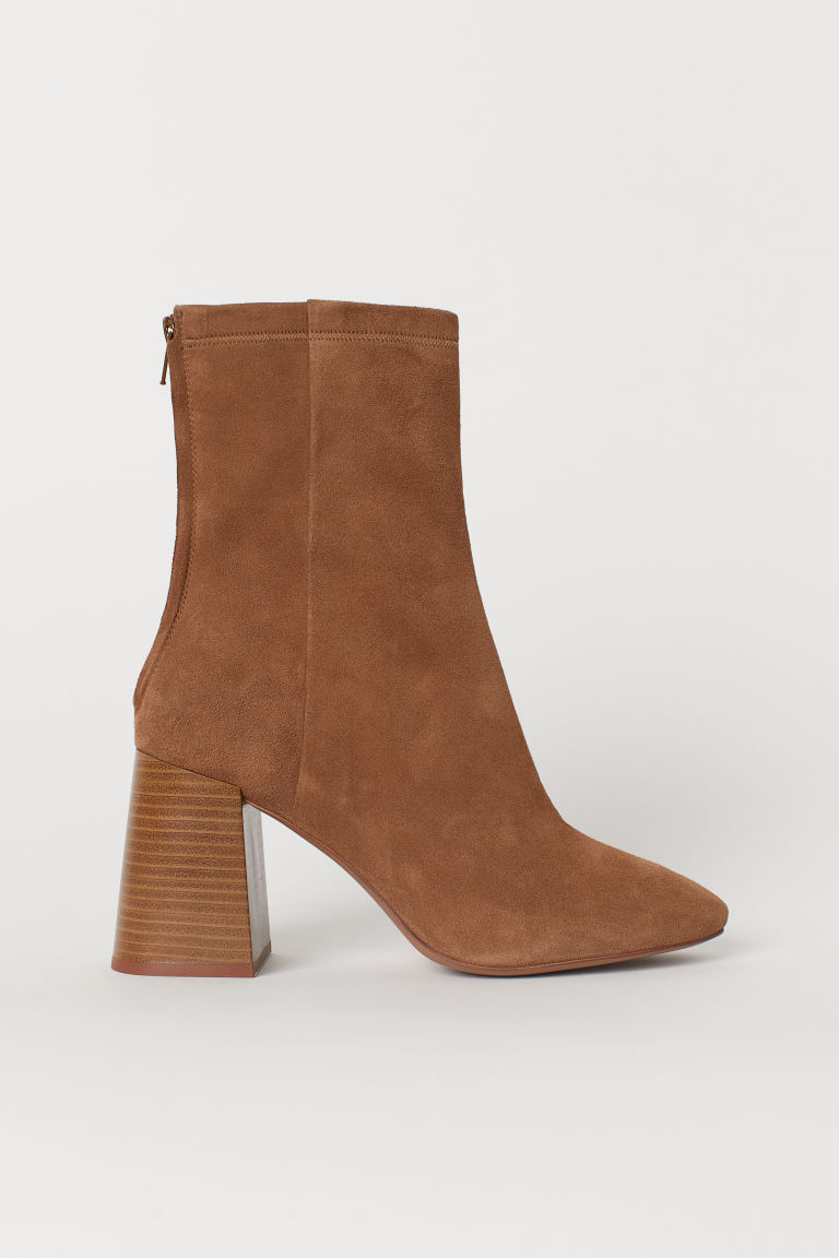 Stivali a calza scamosciati - Light brown - DONNA | H&M IT