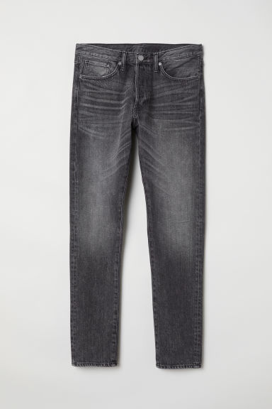 Slim Straight Jeans - Donkergrijs -  | H&M BE