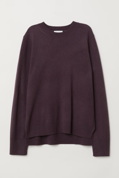 Fine-knit cashmere jumper - Dark purple - Ladies | H&M CN