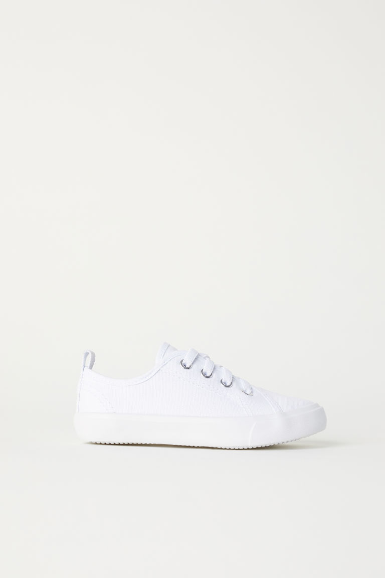Canvas trainers - White - Kids | H&M