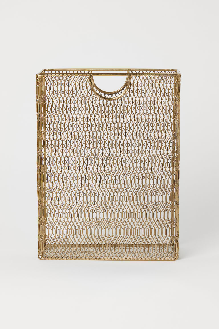 Metal magazine rack - Gold-coloured - Home All | H&M CN
